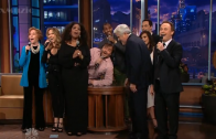 "Stars Sing ""So Long, Farewell"" to Jay Leno"