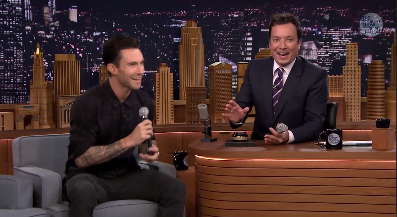Adam Levine Plays Wheel of Musical Impressions on the 'Tonight Show'