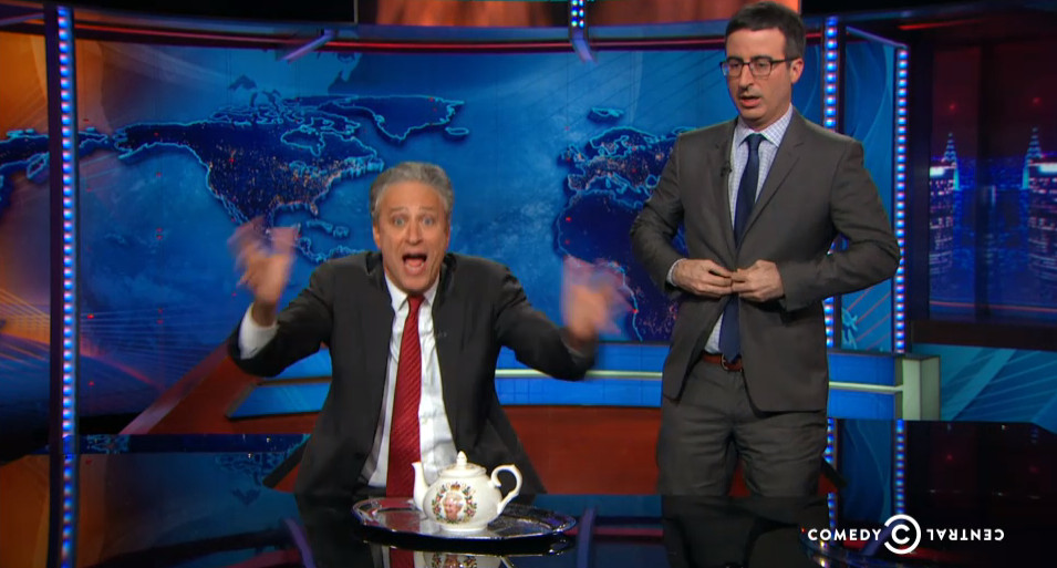 John Oliver Takes over Daily Show to Help Stewart Promote Rosewater