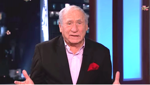 "Mel Brooks chimes in on the controversey surrounding ""The Interview"" on Jimmy Kimmel Live"