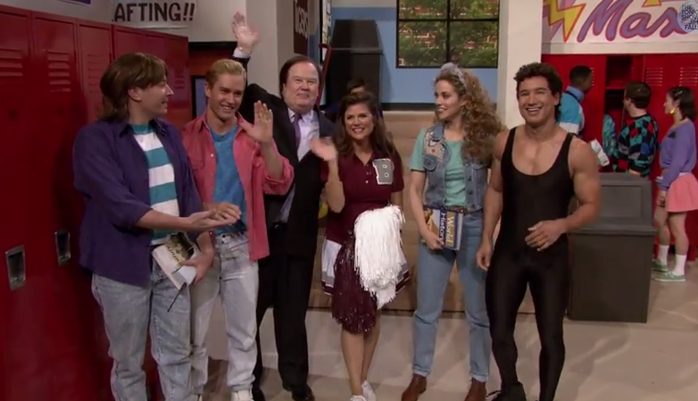 "Jimmy Fallon Reunites ""Saved By The Bell"" Cast"