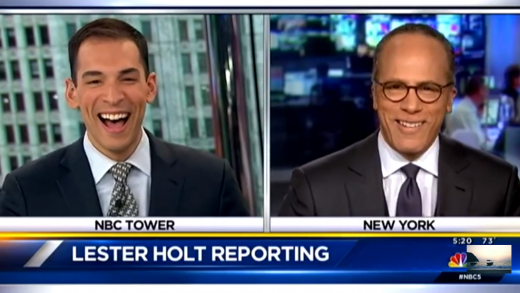 A Father & Son Moment on 'NBC Nightly News'