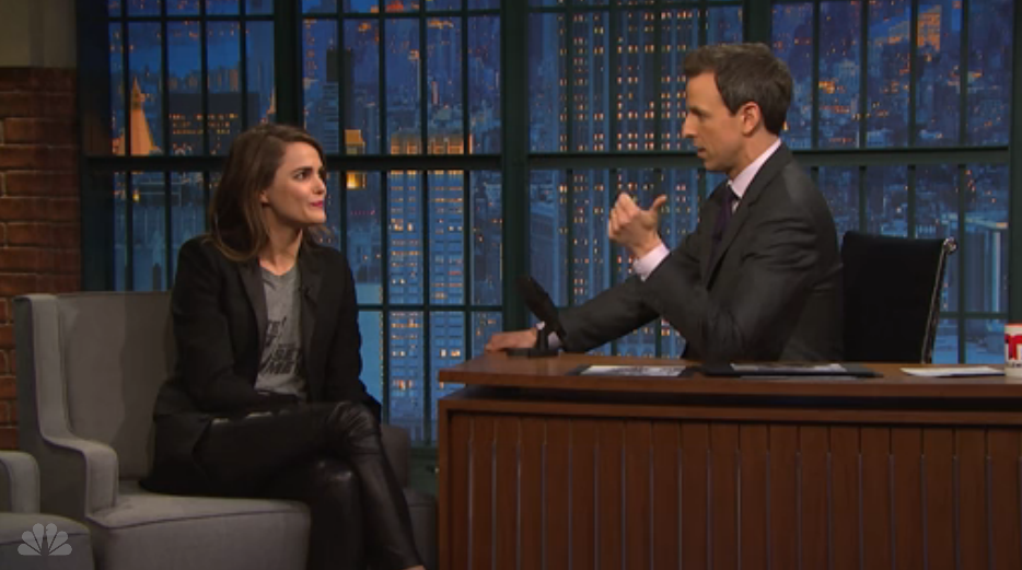 "Keri Russell looks back on the ""Mickey Mouse Club"" on ""Late Night"""